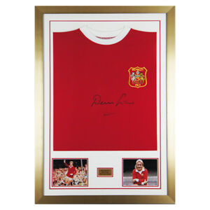 Signed Denis Law Man Utd 1963 Cup Final Shirt - Manchester United - PROOF