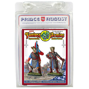 Fantasy Armies Metal Casting Elves 32mm Prince August moulds  molds PA625