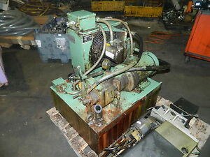 Rexroth 5 HP Hydraulic Unit 27 Gal. Cap. 2PV2V3-30 Pump Used Warranty
