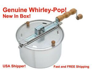 Whirley Pop Stovetop Metal Gear Popcorn Popper Wabash Valley Farms FREE SHIPPING