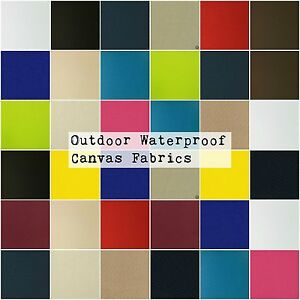 Solid Canvas Waterproof / UV Protected Outdoor Canvas Fabric Pro Tuff Sold BTY