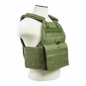 NcStar OD GREEN Police Military Tactical MOLLE  PALs Adj Plate Carrier Vest