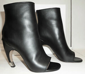 NIB GIVENCHY BLACK LEATHER ANKLE BOOT #545976 SIZE 8 US 38 EU