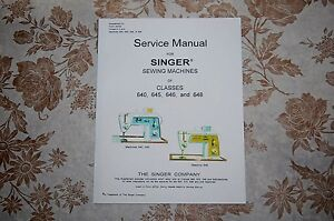 Professional Singer Service Manual on CD for 640 645 646 amp; 648 Sewing Machines $10.85