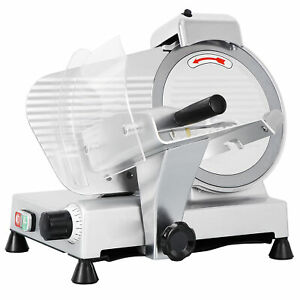 Commercial Electric Meat Slicer 10quot; Blade 240w 530 rpm Deli Food cutter