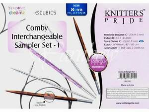 Knitter#x27;s Pride ::Comby Interchangeable Circular Needle Sampler Set:: Brand New $24.45