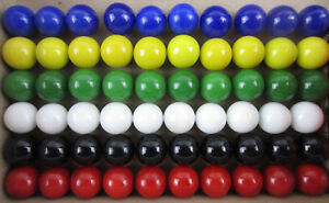 60 Solid Color Replacement Marbles Set run Chinese Checker Dirty Game GLASS 14mm $12.95
