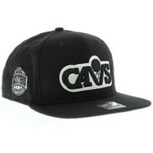 47 Brand Sure Shot Cleveland Cavaliers Black/White NBA Snapback Authentic New