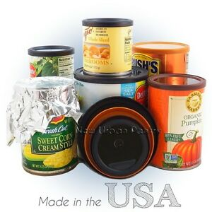 PANTRY LIDS Reusable Tin Can Covers/Couvercles for canned PEOPLE food. 4 Sizes