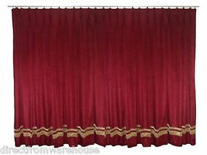 Saaria Thermal Blackout Velvet Pinch Pleat Drapes Curtain With Stripe 18'Wx10'H