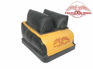 PROTEKTOR MODEL - NEW EMPTY DR BAG LEATHER MID EAR RIFLE REST BENCH SHOOTING