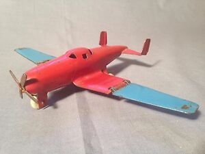 original 1930 toy pressed steel airplane with