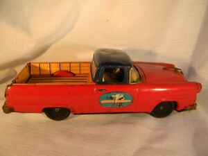 1956 ford ranchero pickup toy truck tin friction