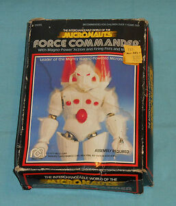 vintage mego micronauts force commander in