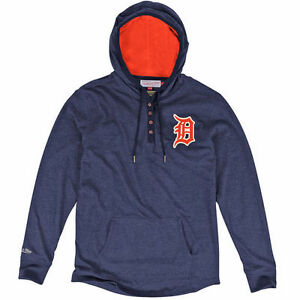 Mitchell & Ness Detroit Tigers Navy Blue Playoff Spot Long Sleeve T-Shirt