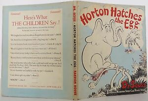 DR. SEUSS Horton Hatches the Egg FIRST EDITION