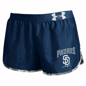 Under Armour San Diego Padres Women's Performance Tied Up Navy Running Shorts