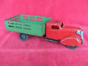 vintage early wyandotte farm truck stake bed