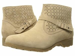 50% OFF NEW #1010105 TEVA WOMENS DELAVINA ANKLE PERFORATED BOOT SZ 7 TAN $59.99