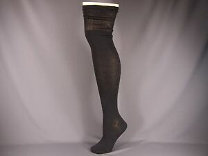 Black long over the knee under tall boot thigh high thin socks ladies 9 11 $9.99