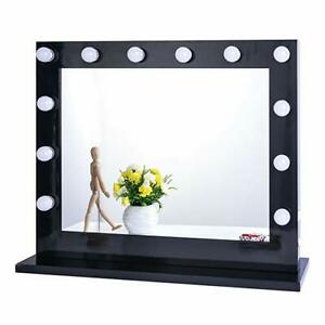 Chende Black Hollywood Makeup Vanity Mirror with Light Large Stage Beauty Mirror