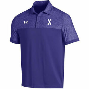 Under Armour Northwestern Wildcats Purple 2016 Coaches Podium Performance Polo