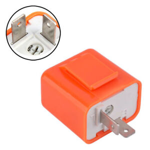 2-Pin Speed Adjustable LED Flasher Relay RV Motorcycle Turn Lamp Hyper Flash 12V