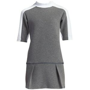 $150.00 802607-091 Nike Women Court Dress (gray  carbon heather  white)