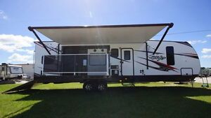 2017 STRYKER 3212 TOY HAULER TRAVEL TRAILER FITS ANY SIZE RZR 9000 LBS