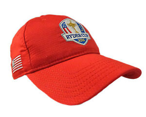 NEW Under Armour USA Ryder Cup 2016 Adjustable Red Golf HatCap