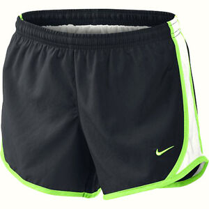 Nike Girls Kids L Large Tempo Running Shorts Youth Dri Fit Anthracite Volt