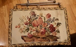Wall tapestry from Italy with wall rod included Free Shipping