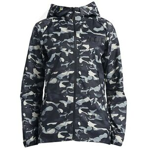 $110.00 687611-010 Nike Women Run TF Long Camo Windrunner Jacket (black  brigh