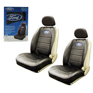 Brand New Ford Elite Style Car Truck Synthetic Leather 2 Front Seat Covers Set