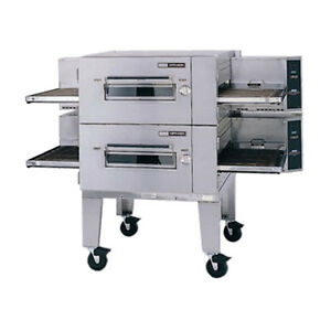 Lincoln 3240-2R Electric Double Stack Conveyor Oven W Fastbake