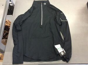 Under Armour Women's Fly Fast 12 Zip Long Sleeve Shirt Black Size Large