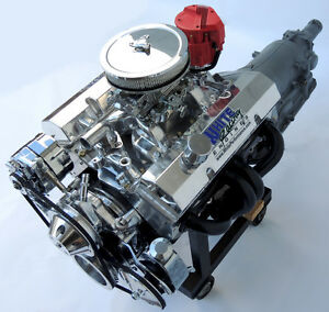 SBC Chevy Turn Key 406 Stroker Engine w700R4 Transmission - 550 HP CRATE MOTOR