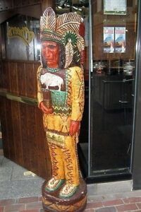 6 CHEERS TV Cigar Store Indian 6 ft Wooden Replica by Gallagher $1699.00