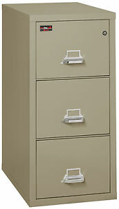 Pewter 3 Drawer UL Class 350 2 hr fireproof Vertical Letter 31