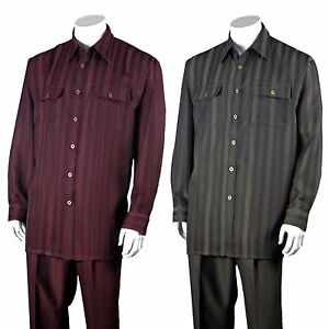 MEN'S TWO PIECE WALKING SUIT STRIPED Polyester  DESIGN BY FORTINO LANDI M2761