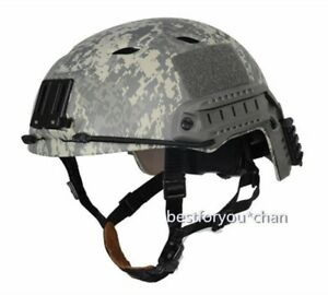 Tactical FAST Base Jump BJ Adjustable Helmet Airsoft Paintball Game ACU LXL