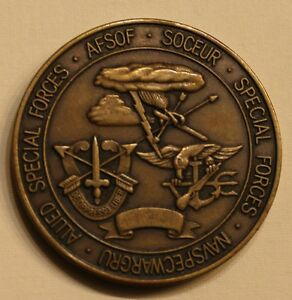 Special Operations Forces Europe Exercise FLINTLOCK 87 Military Challenge Coin