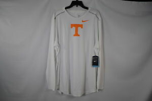 Men's Nike Dri-Fit NCAA Tennessee Volunteers Long Sleeve White  Gold T-Shirt