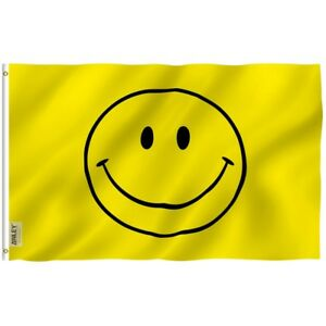 Anley Fly Breeze 3x5 Foot Yellow Smiley Face Flag - Happy Face Flags Polyester