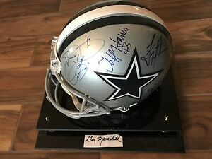 RARE DALLAS COWBOYS RING OF HONOR AUTOGRAPHED AUTHENTIC HELMET one-of-a-kind!