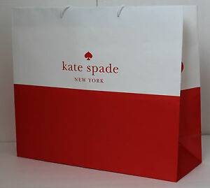 Kate SPADE Shopping Paper Gift Bags - Red & White 18.5