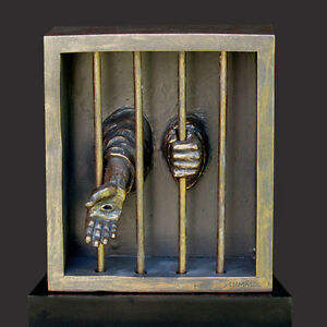 When I Was In Prison Christian Sculpture by Timothy Schmalz (NEW)