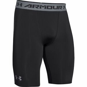 New Under Armour UA Men's HeatGear Armour Compression Shorts – Long 1257472