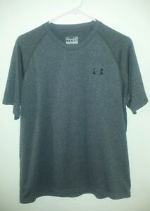 Under armour  heat gear  dry fit shirt  gray size L