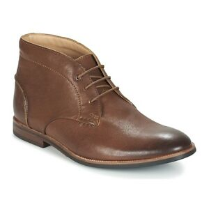Mens Shoes Clarks Broyd Mid Lace Up Leather Ankle Boots 23858 Tan *New* $94.00